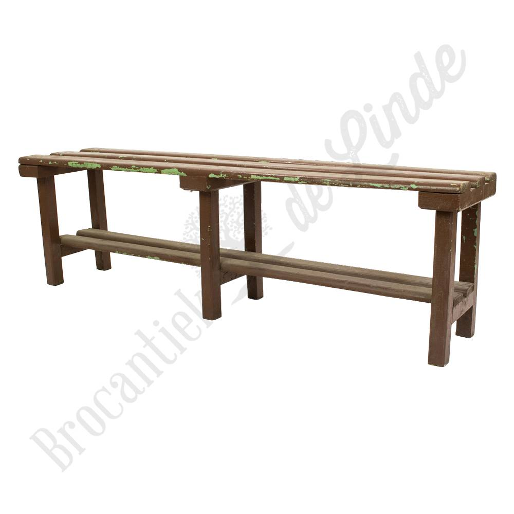 vintage bruin houten bankje with houten bankjes