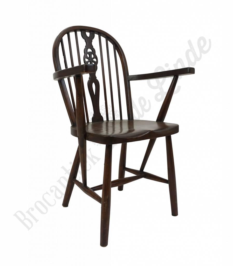 Houten Stoel Met Leuning.Stoel Armleuning Artisan Neva Chair Houten Eetkamerstoel Met