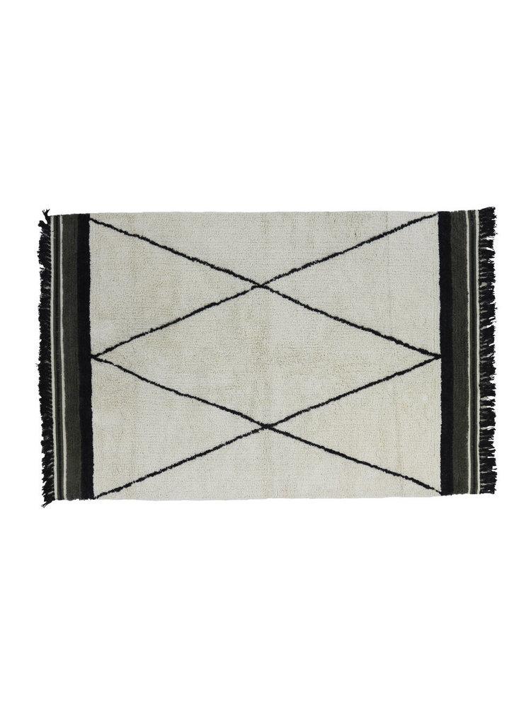 tapis petit tapis ethnique vert