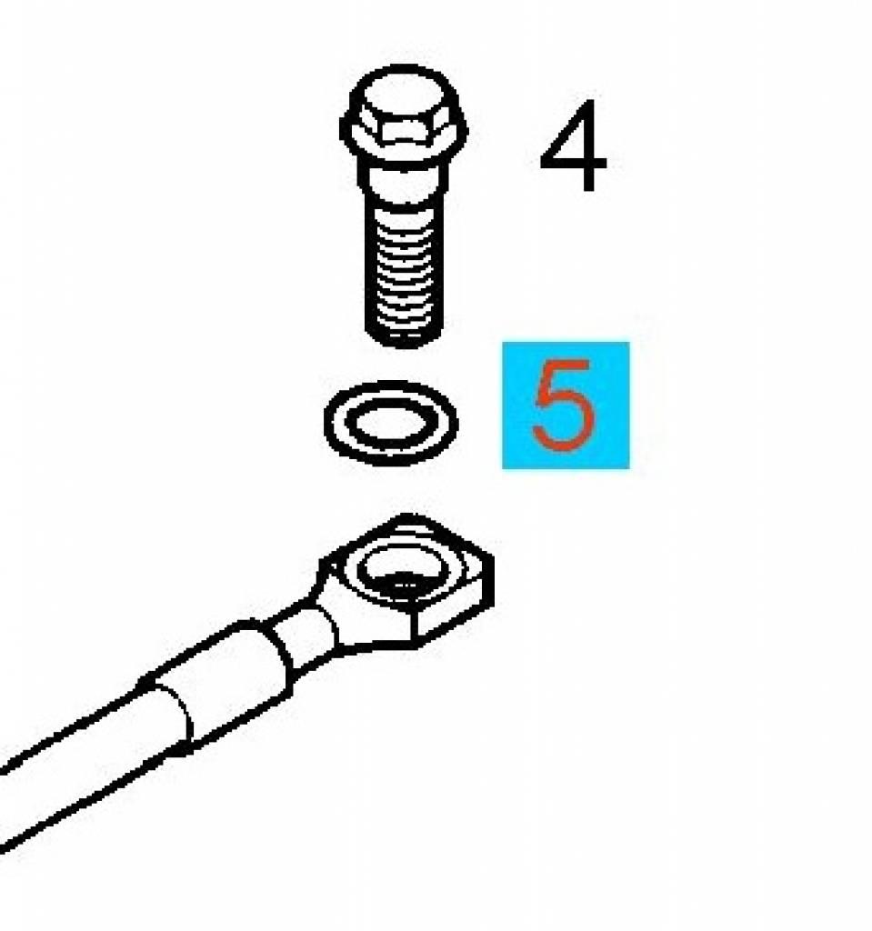 Seal ring brake hose 10X15 Opel Ascona Astra Calibra Corsa