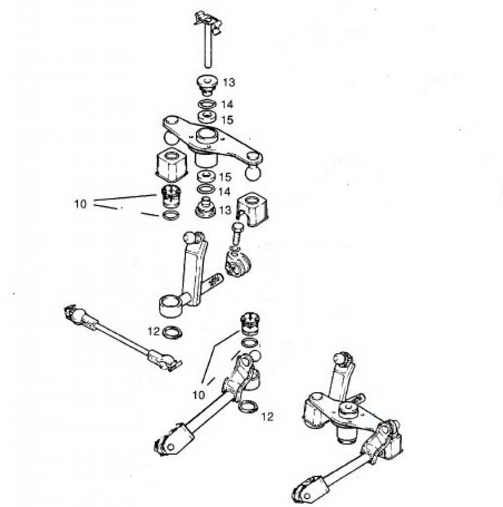 Repair kit gearshift linkage Opel Astra-F Calibra Kadett-E