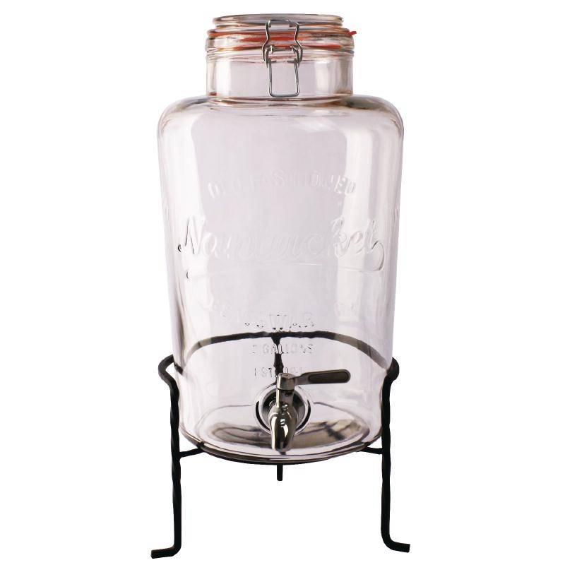 distributeur d eau en verre socle 8 5 litres