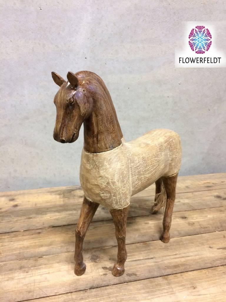 Wooden horse - Horses wood - Horse figurines online - Flowerfeldt