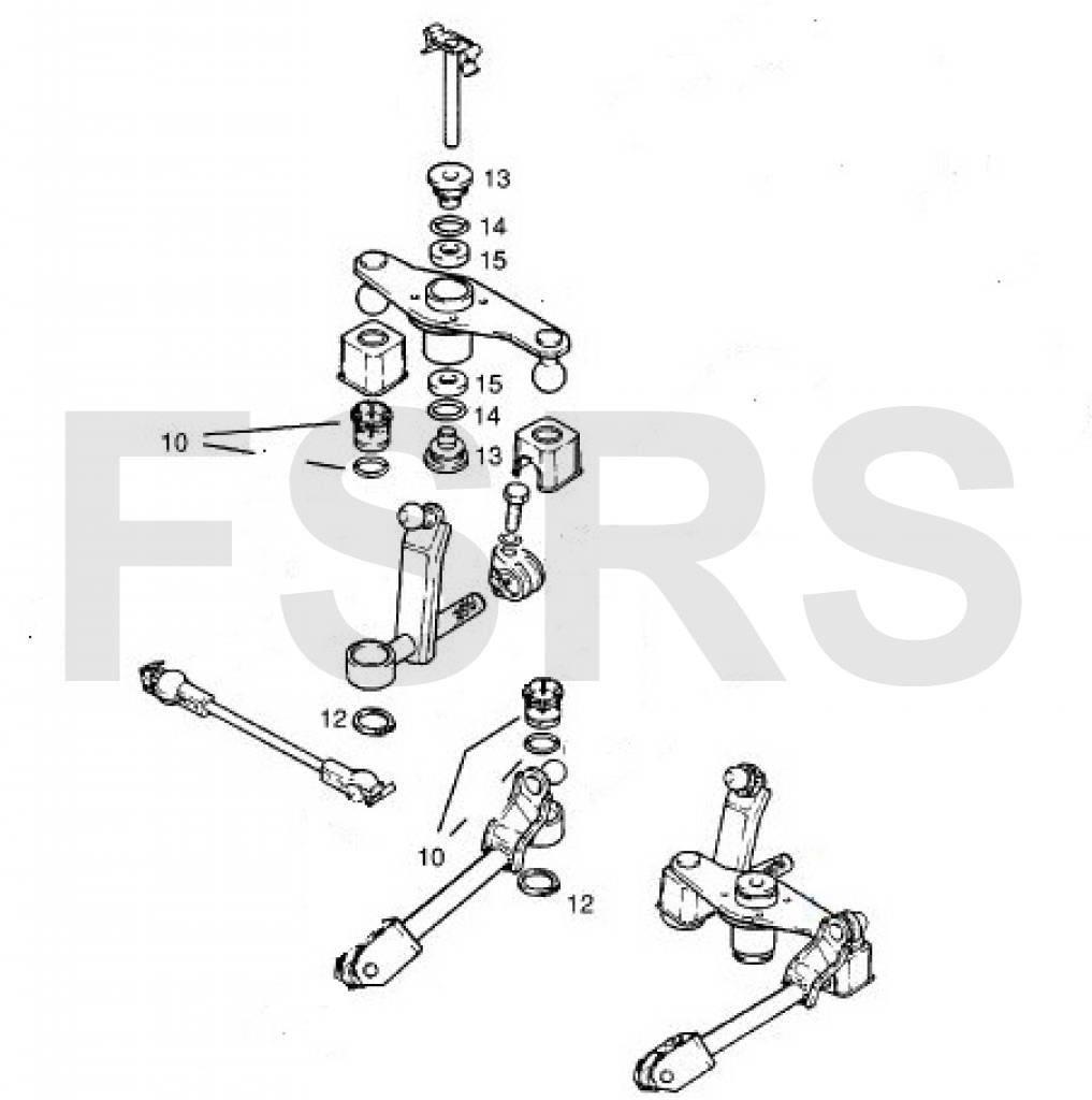 Reparatieset voor schakelmechaniek Opel Astra-F Calibra