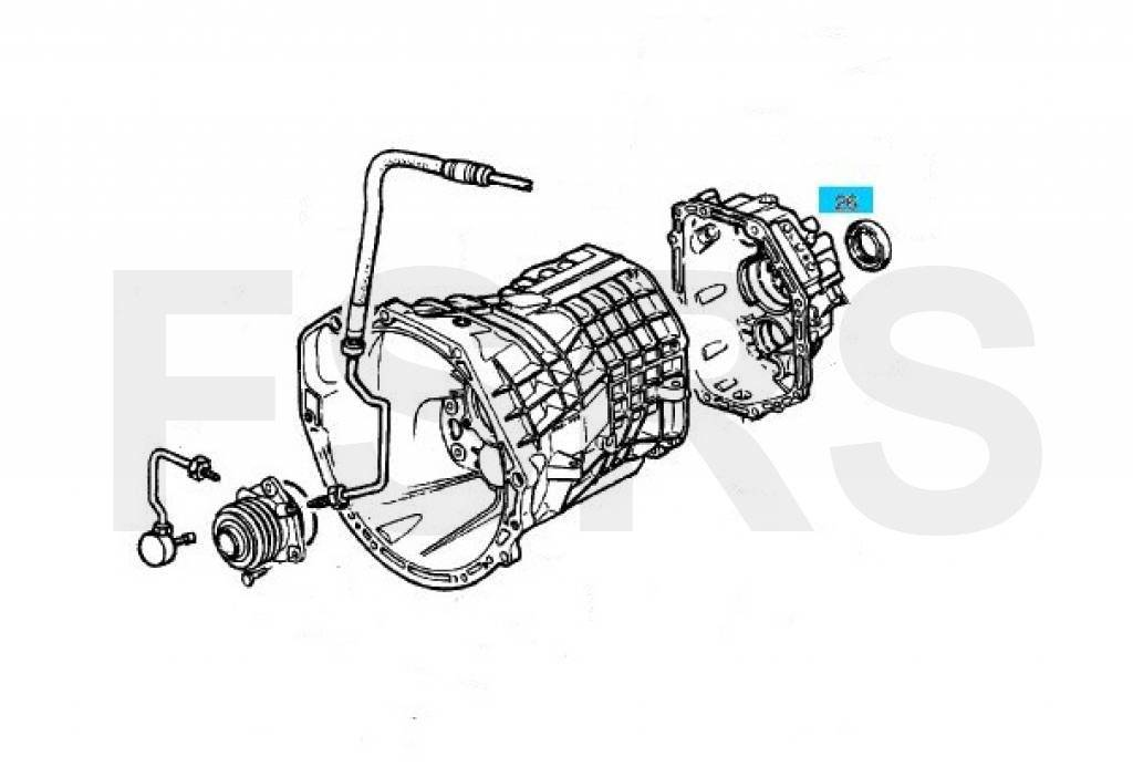 Staartstukkeerring 55X42X10 Opel Omega-A Omega-B Senator-B