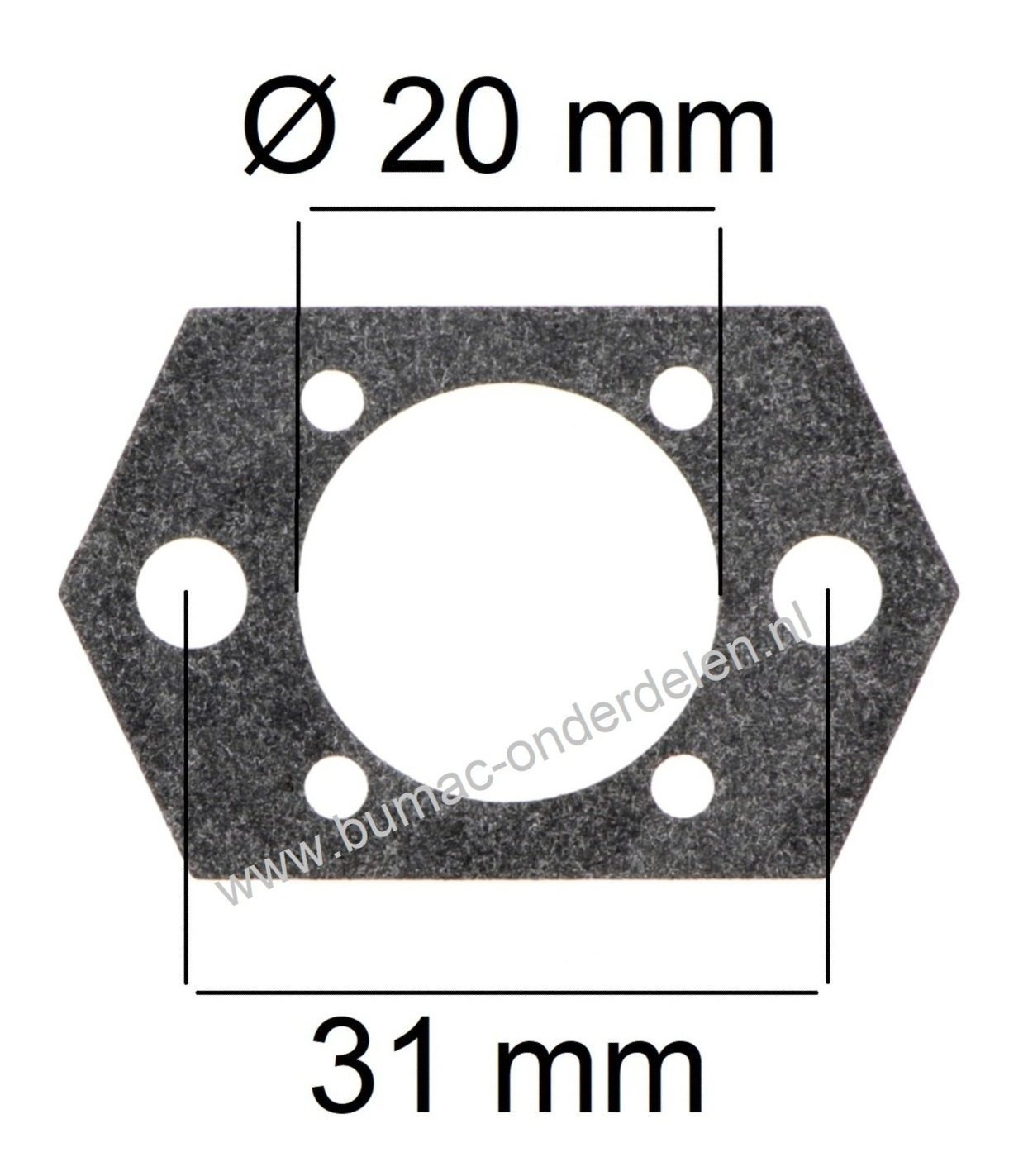 Inlaatpakking voor Stihl BR320, BR400, BR320L, SR320