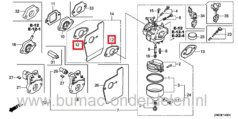 Honda Gxv50 Gcv 135 Gcv 160 Engines Master Service Manual