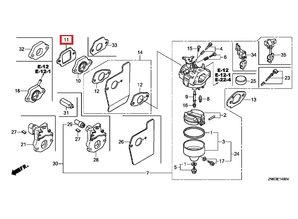 Pakking voor de Honda GCV135, GCV160, G200, GC160 en GK200