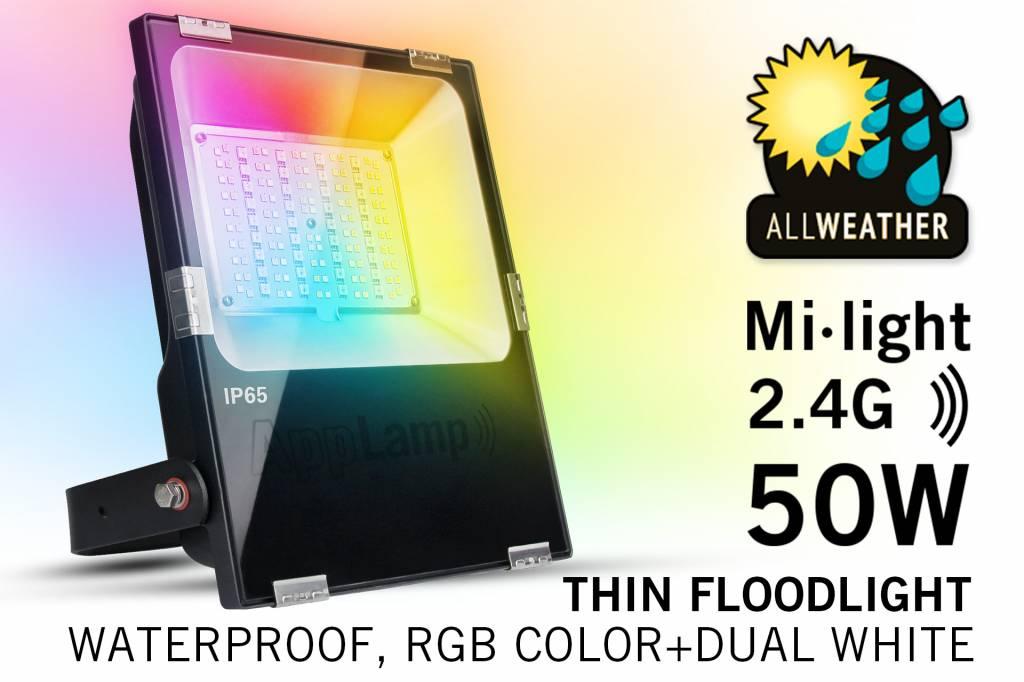 Mi·Light Mi-Light 50W RGBWW Kleur + Dual White LED Schijnwerper. Waterdicht IP65