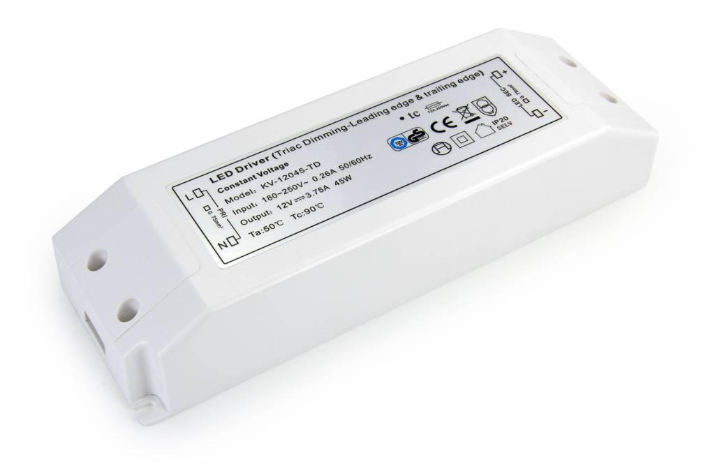 Dimbare Voeding DC 12 Volt 45 Watt 3,75 Ampère