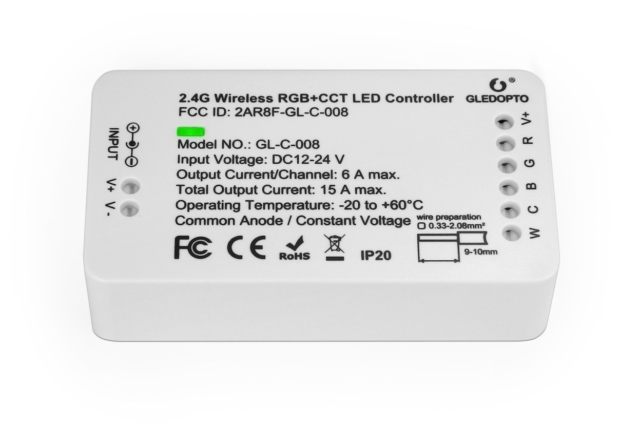 GLEDOPTO Zigbee Light Link RGB+CCT Controller (ZLL) GLEDOPTO GL-C-008