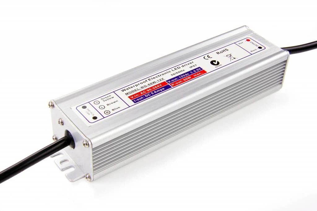 Waterdichte voeding DC 24V 60 Watt 2.5A