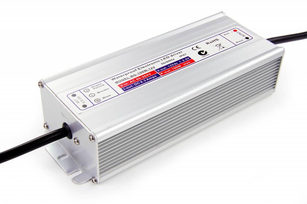 Waterdichte voeding DC 24V 100Watt 4 Amp