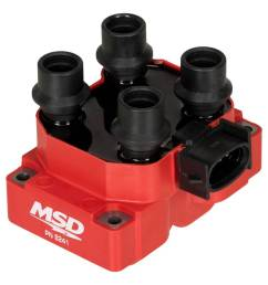 msd ignition coil ford dis coil pack 4 tower stock [ 1024 x 1024 Pixel ]