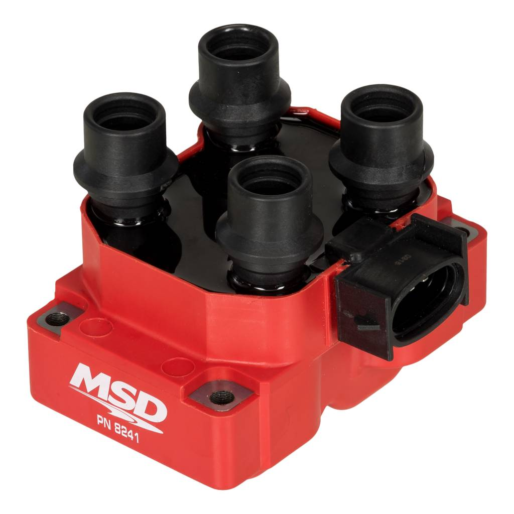hight resolution of msd ignition coil ford dis coil pack 4 tower stock