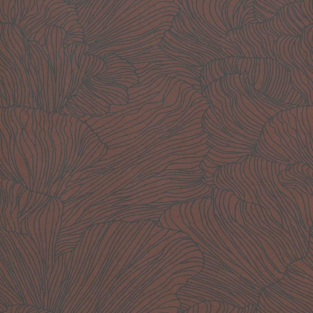 papier peint coral bordeaux rouge fonce bleu 53x1000cm