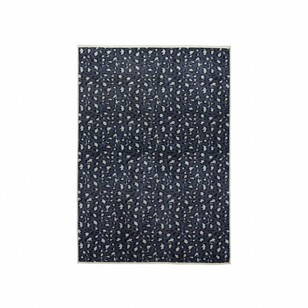 essenza tapis bory bleu petrole polyester 120x180cm
