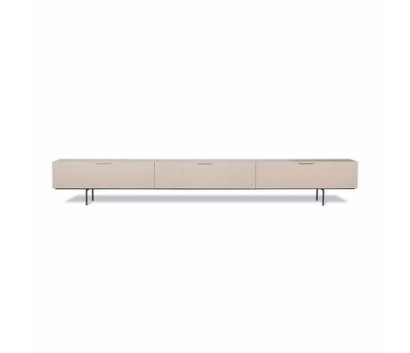 hk living meuble tv wood grain bois beige 250x30x36cm