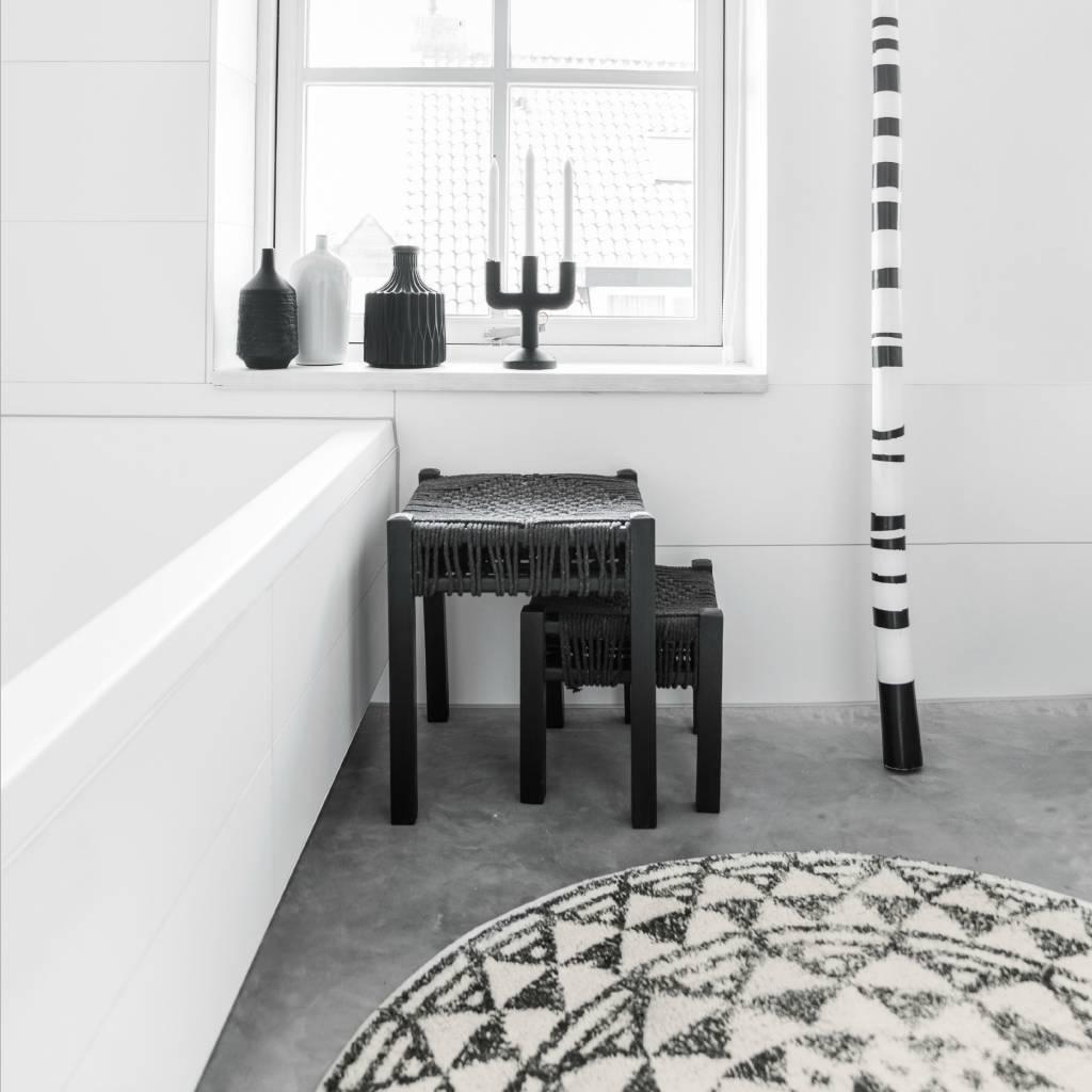 hk living tapis de bain tapis petit rond o60cm