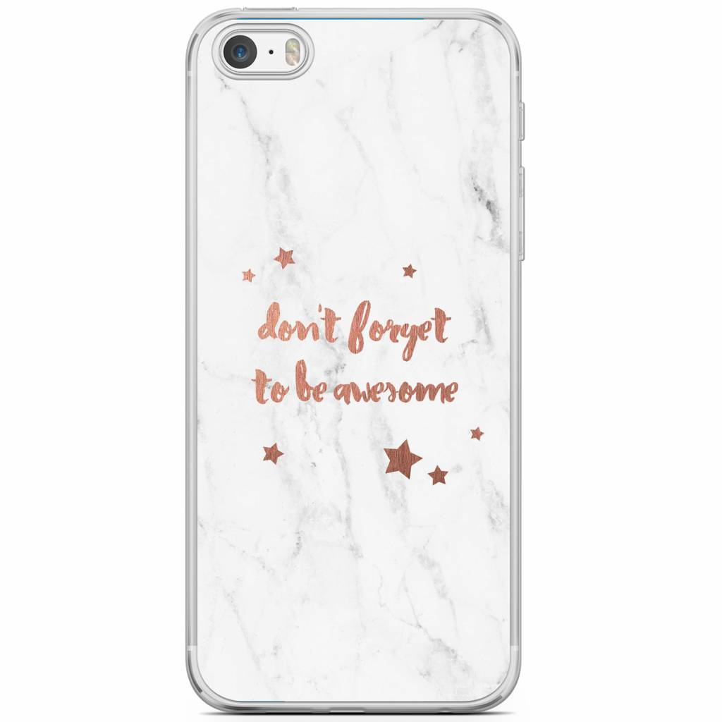 Be Awesome Siliconen Hoesje Voor Apple Iphone Se 5s Se