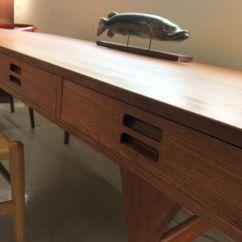 1950s Kitchen Table Replacement Sprayer Nanna Ditzel设计师的1950年代柚木书桌