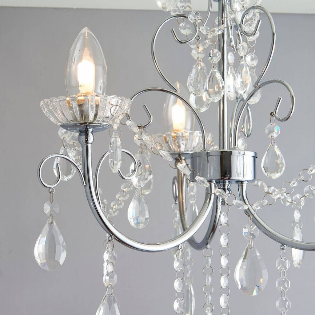 Bathroom Chandelier Lighting Tabby 3 Light Bathroom Chandelier Ip44