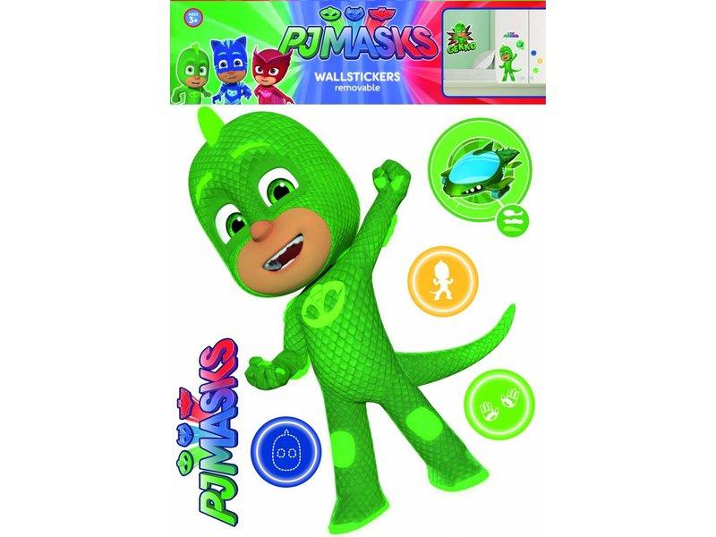 gekko wall sticker green