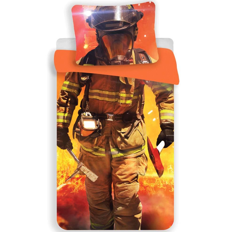 housse de couette fireman 140x200cm