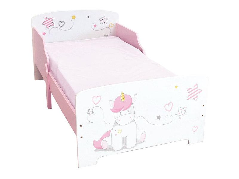 lit enfant 70 x 140 cm rose