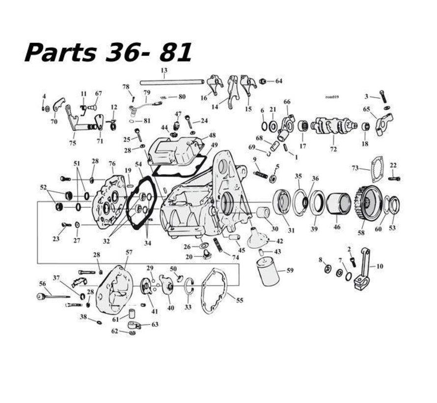 5-Gang Getriebeteile 80-06 Shovelhead / Evo & Twincam