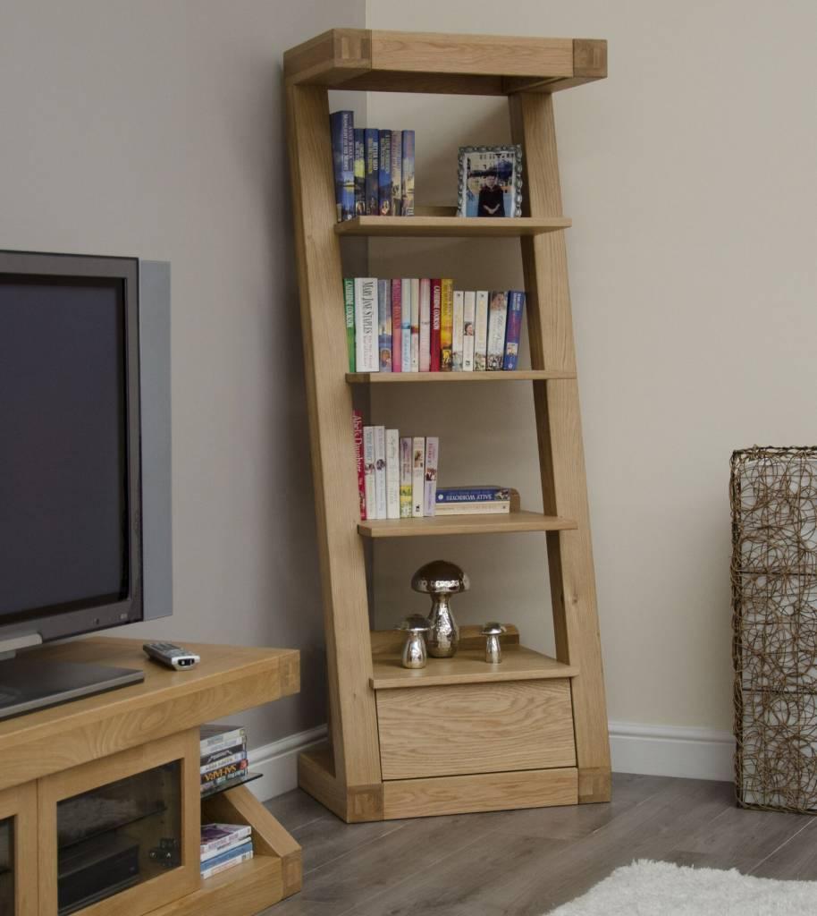 Z Designer Solid Oak Bookcase