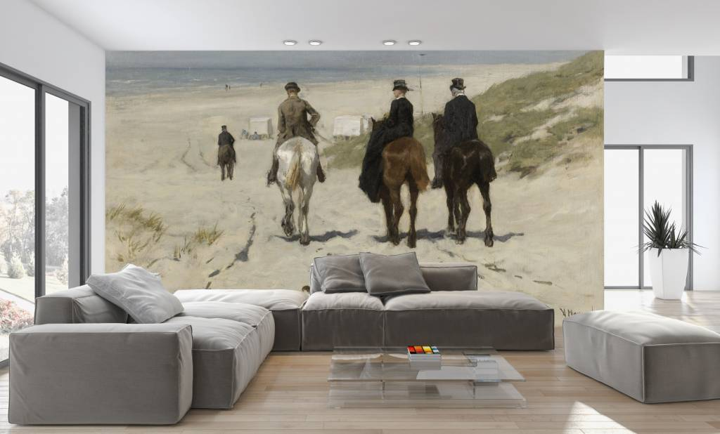 Mural Morning Ride on the Beach  Walldesign56 Wall Decals
