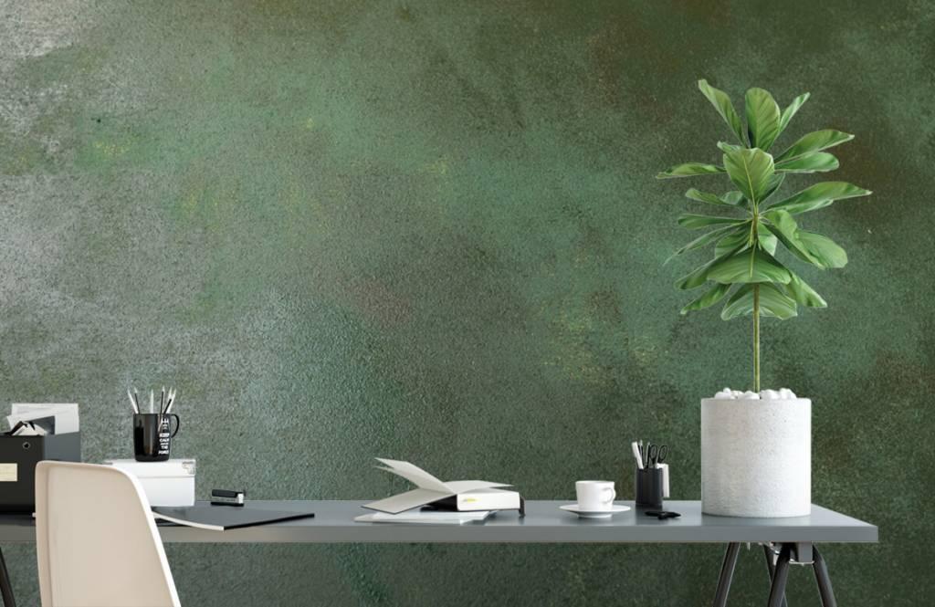 Groen betonlook fotobehang  Fotobehang