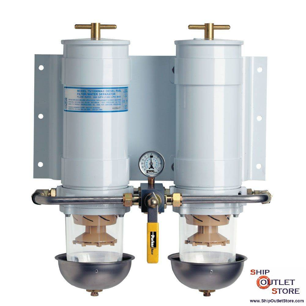 hight resolution of dual fuel filter with water separator racor turbine 75 1000ma30