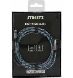 streetz fabric coated usb apple lightning cable orange blue or purple 6 [ 900 x 900 Pixel ]