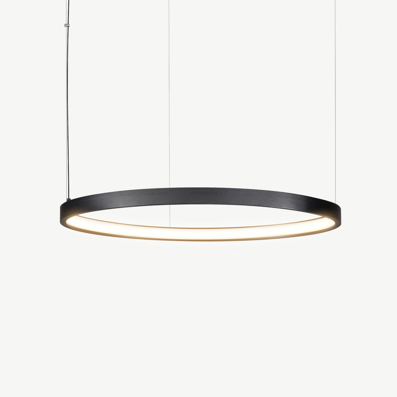 led ring pendant lamp halo o790 mm black