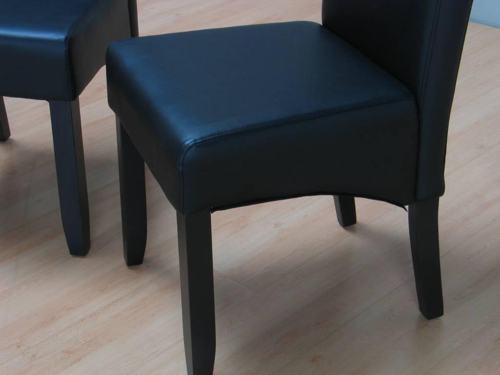 Eethoek Mark 90 x 180 met 6 zwarte stoelen