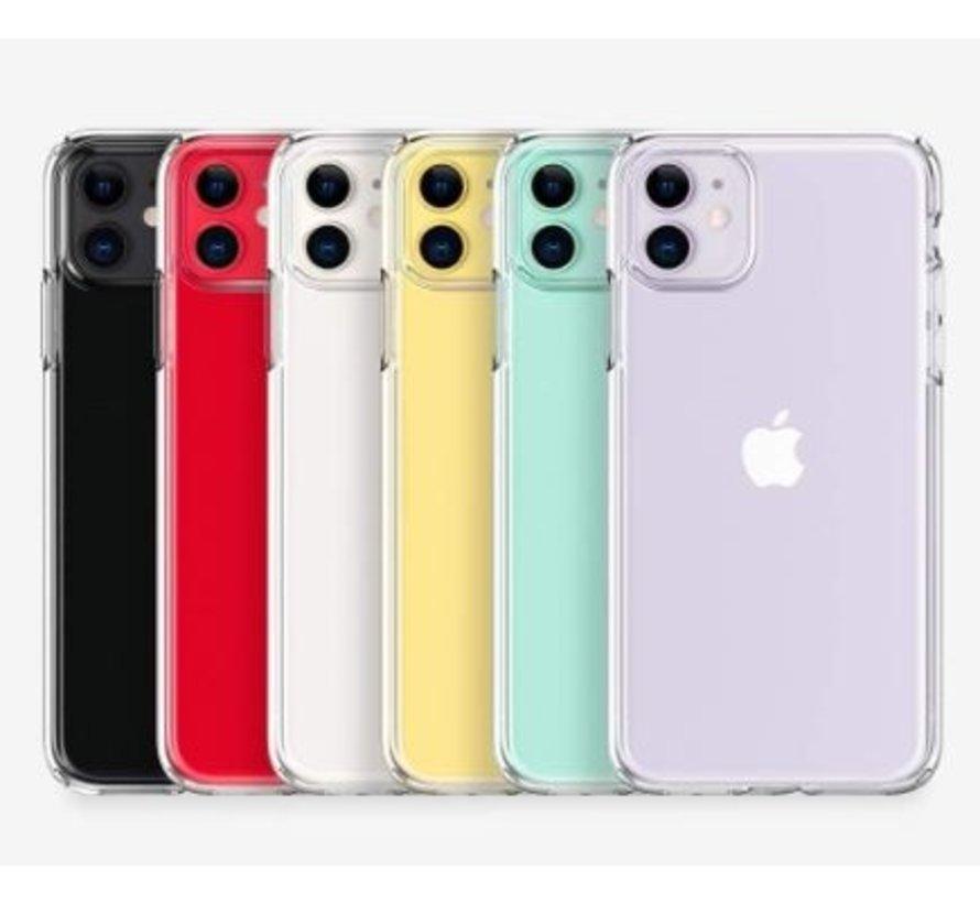 Siliconen hoesje met camera bescherming iPhone 11 (transparant) - Phone-Factory