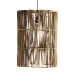 Large Lamp Shade In Rattan Couleur Locale