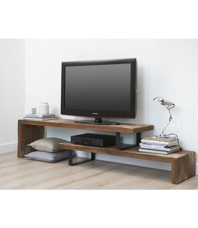 TV meubel Teak hout De Woonhoek