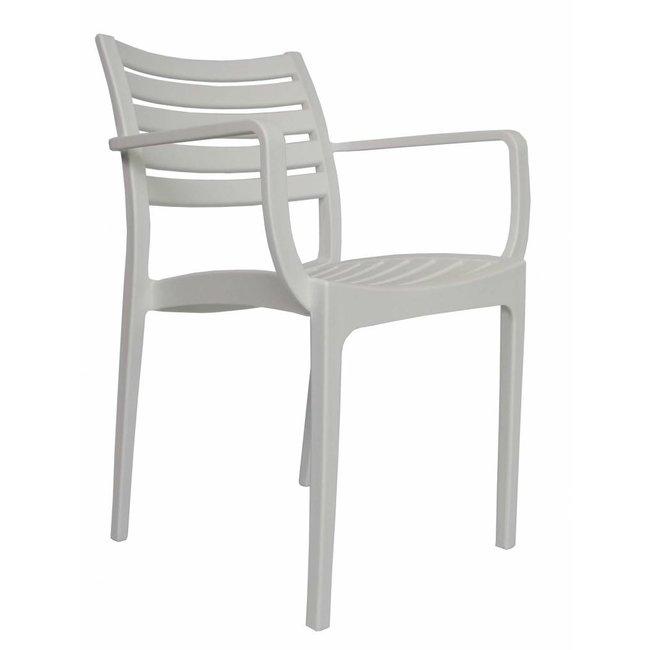 dimehouse breaz chaise de jardin blanc moderne plastique