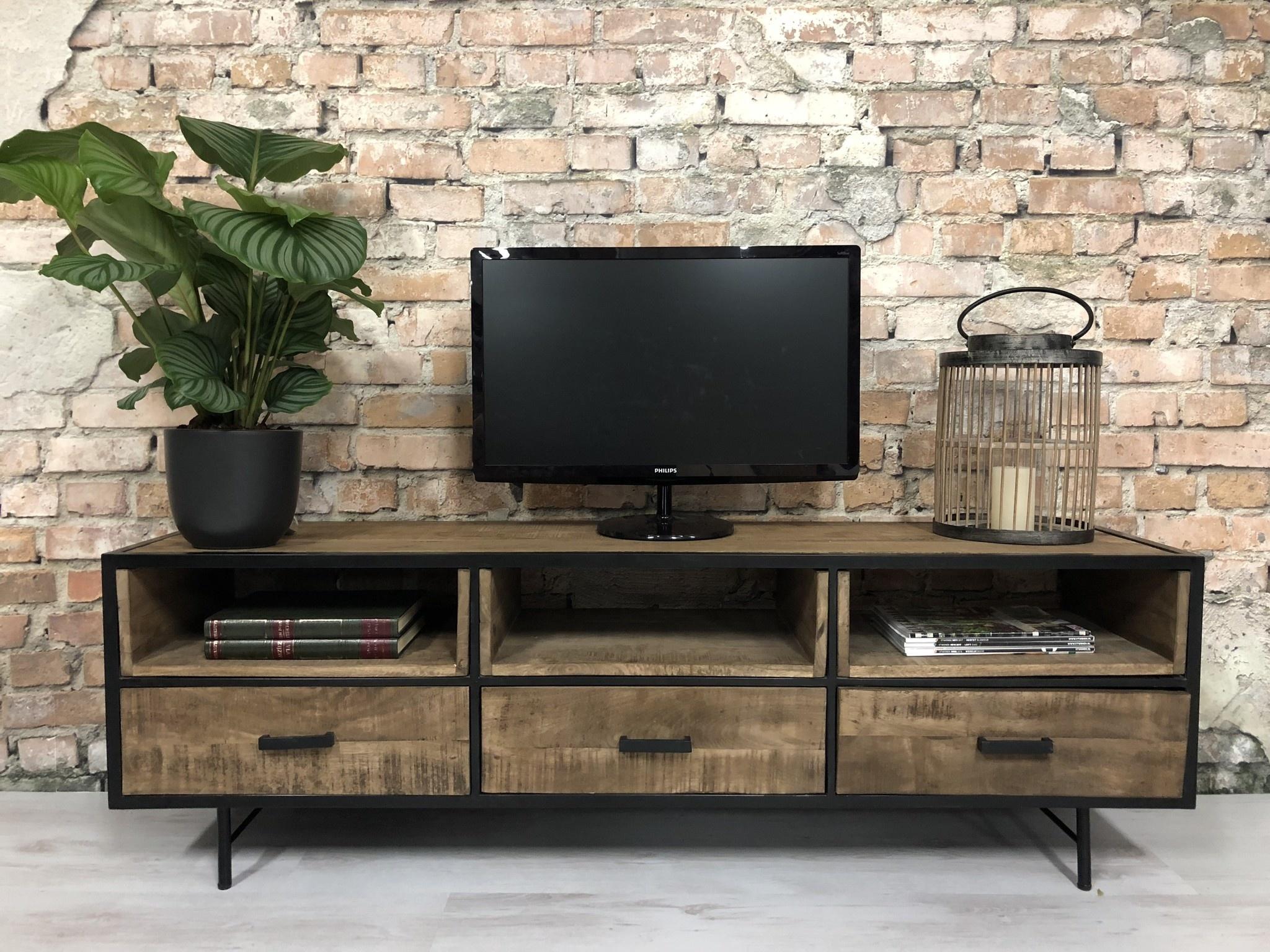 meuble tv industriel bois manguier i livraison retour gratuits