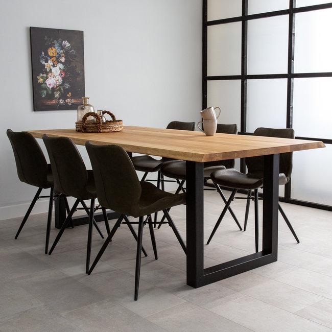 dimehouse siberie table salle a manger 200 x 100 cm industriel tronc d arbre