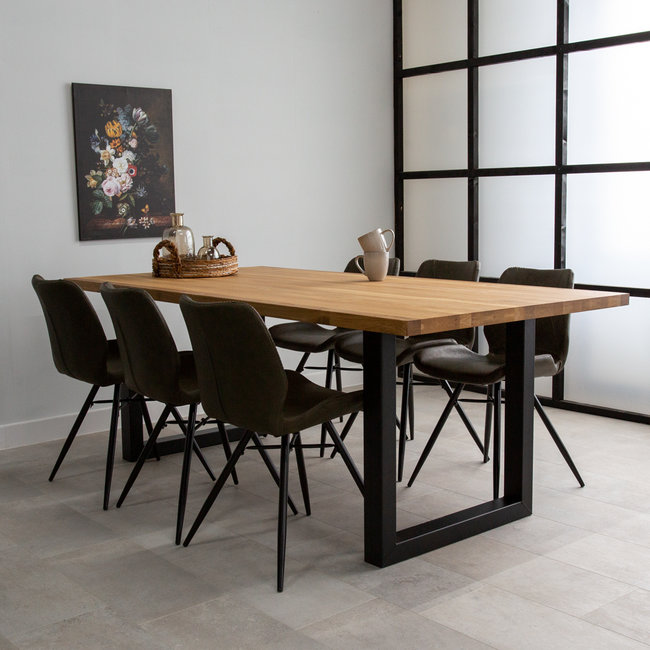 dimehouse siberie table salle a manger 200 x 100 cm industriel bois massif rectangle