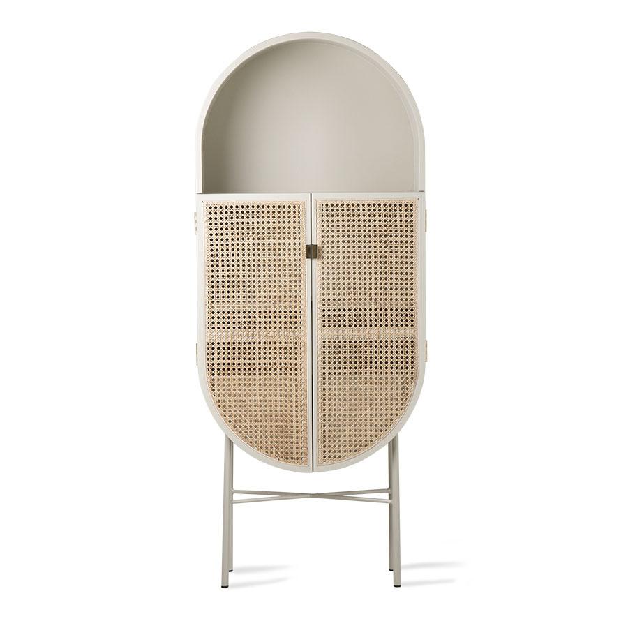 hk living retro oval cupboard light gray
