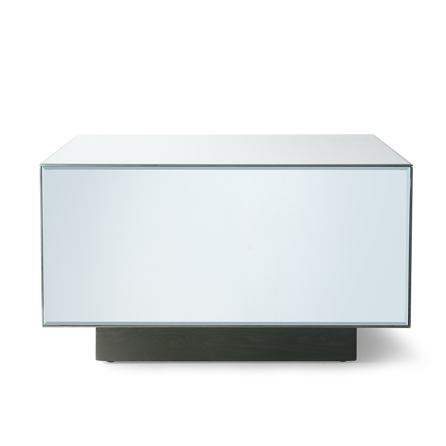 mirror block coffee table large