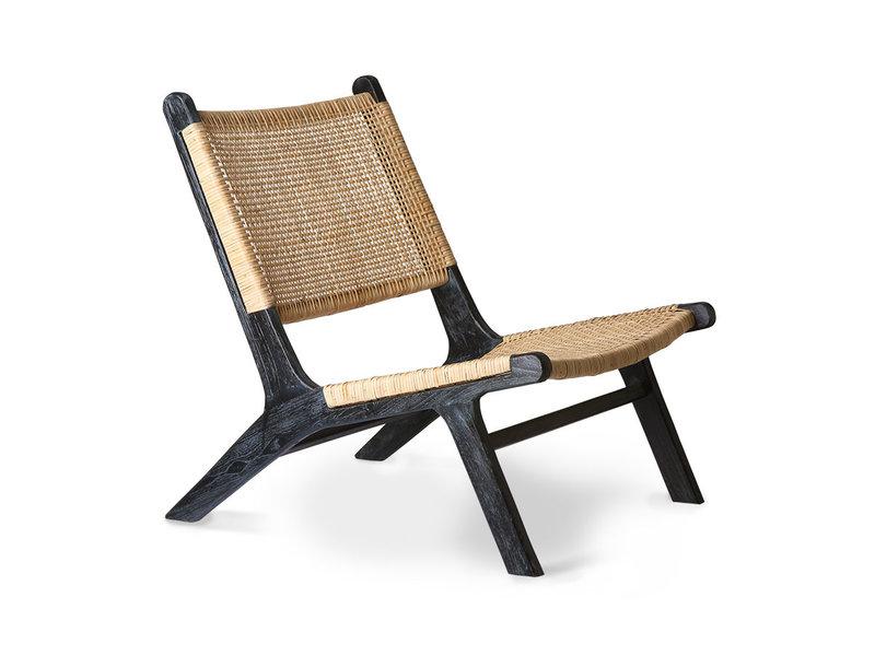 gurtband lounge chair schwarz naturlich