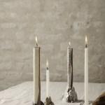 Ferm Living Stone Candle Holder Large Brass Groen Akker
