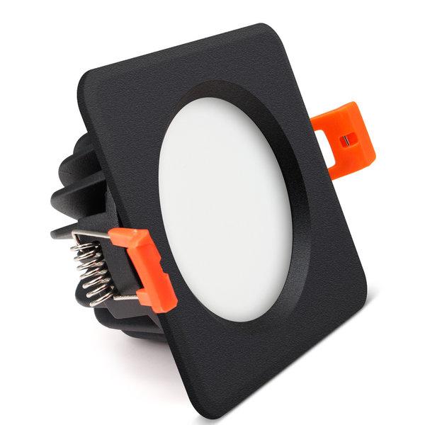 spot led encastrable salle de bain ip65 etanche 12w carre noir scie 95 mm