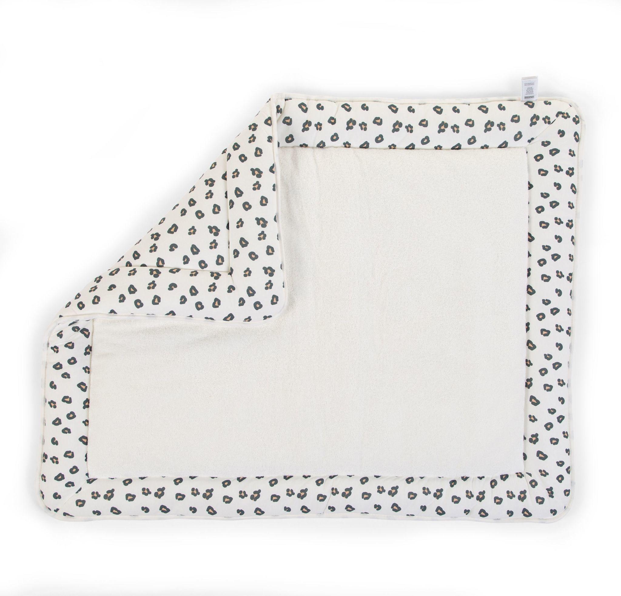 childhome tapis pour parc 75x95 jersey leopard